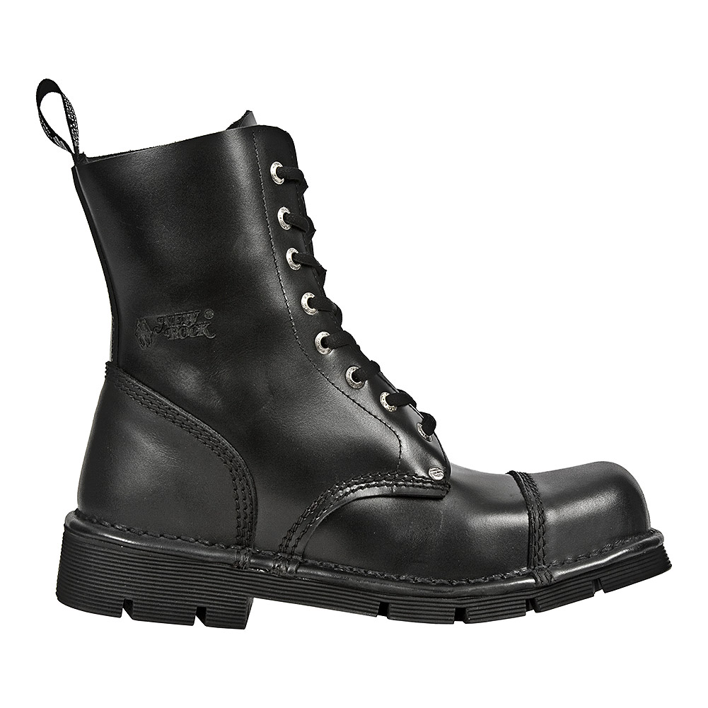 New Rock Style M.NEWMILI083-S1 Lace Up Boots (Black)