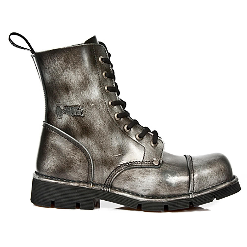 New Rock Style M.NEWMILI083-S2 Lace Up Boots (Antique Grey)