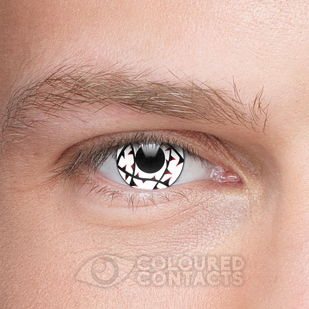 Thorn 90 Day Coloured Contact Lenses (White/Black)