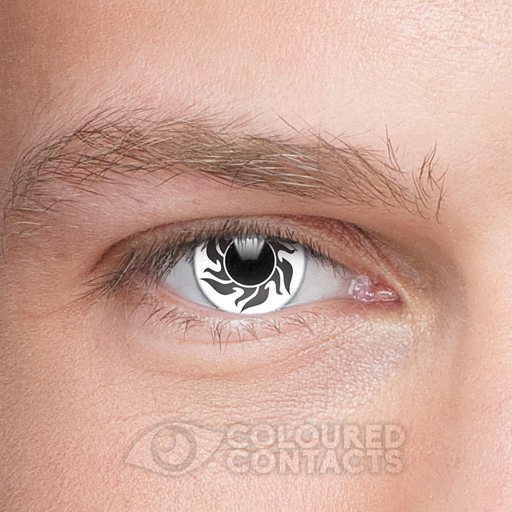 Tribal 90 Day Coloured Contact Lenses (Black/White)