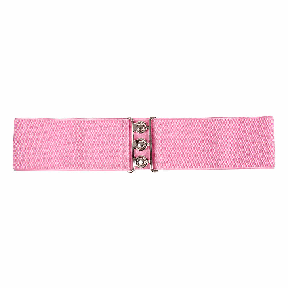 "Blue Banana Stretch 3 Clasp 3"" Belt (Pink)"