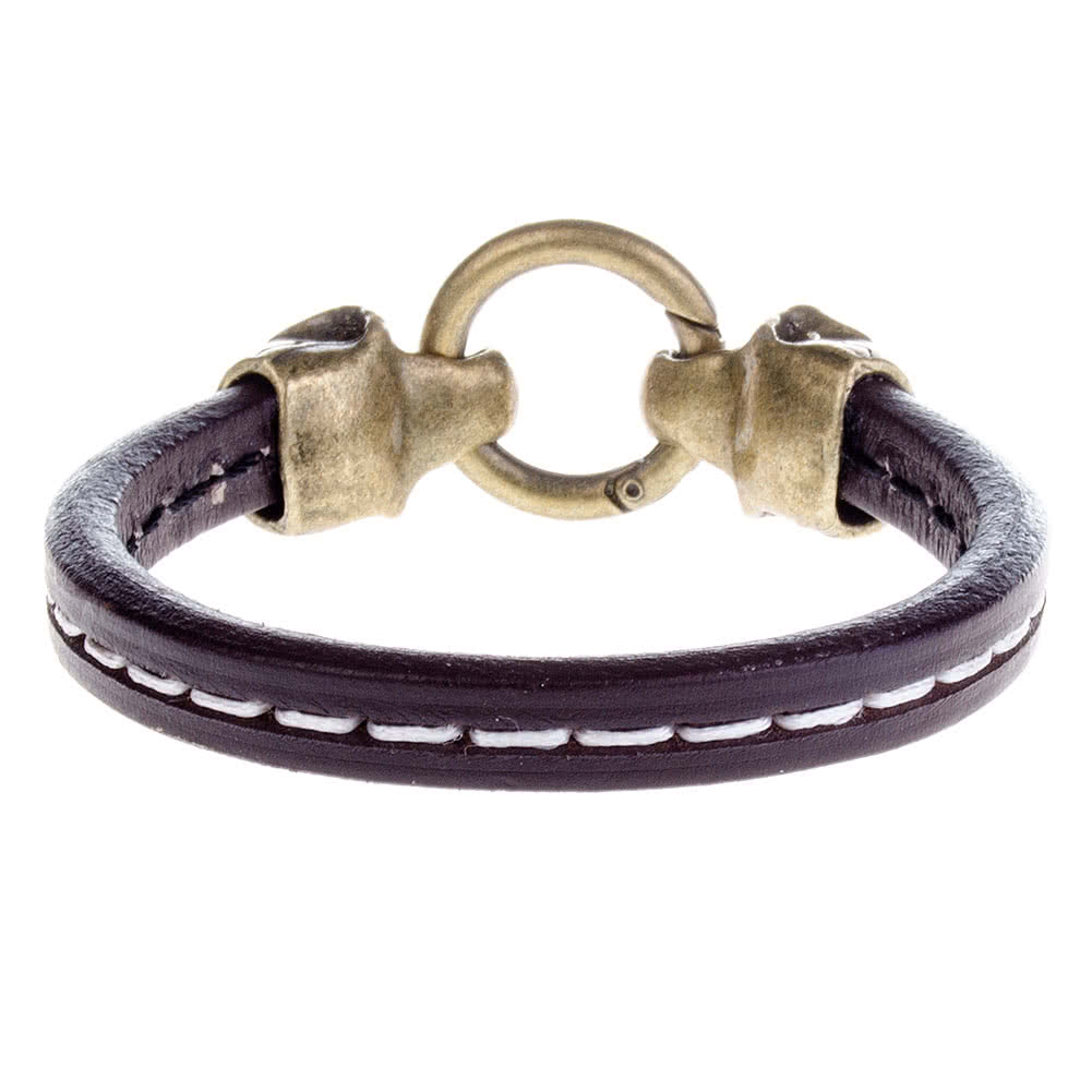 Blue Banana Skull Ring Wristband (Brown)