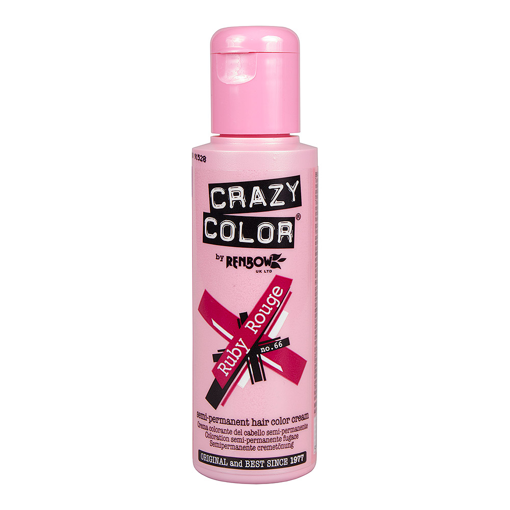 Crazy Color Semi-Permanent Hair Dye 100ml (Ruby Rouge)