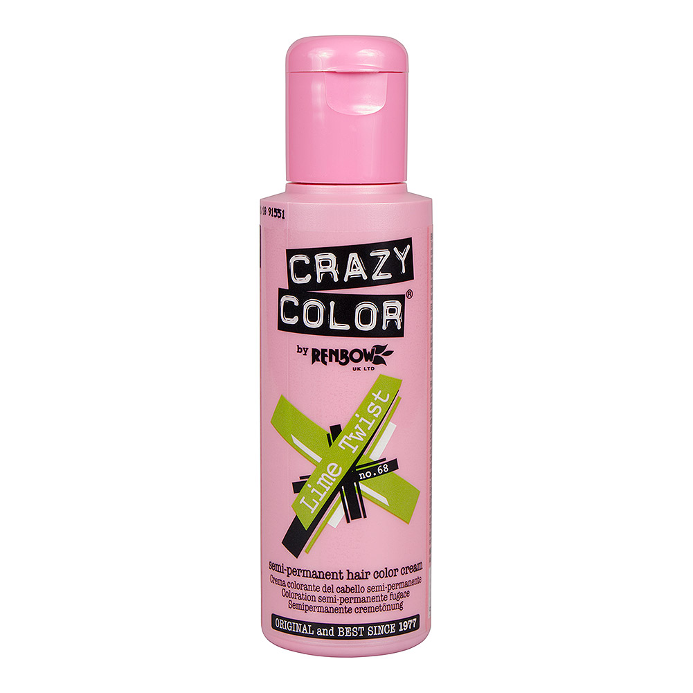 Tintura Per Capelli Semi-Permanente 100ml Crazy Color (Verde Limetta - Verde)
