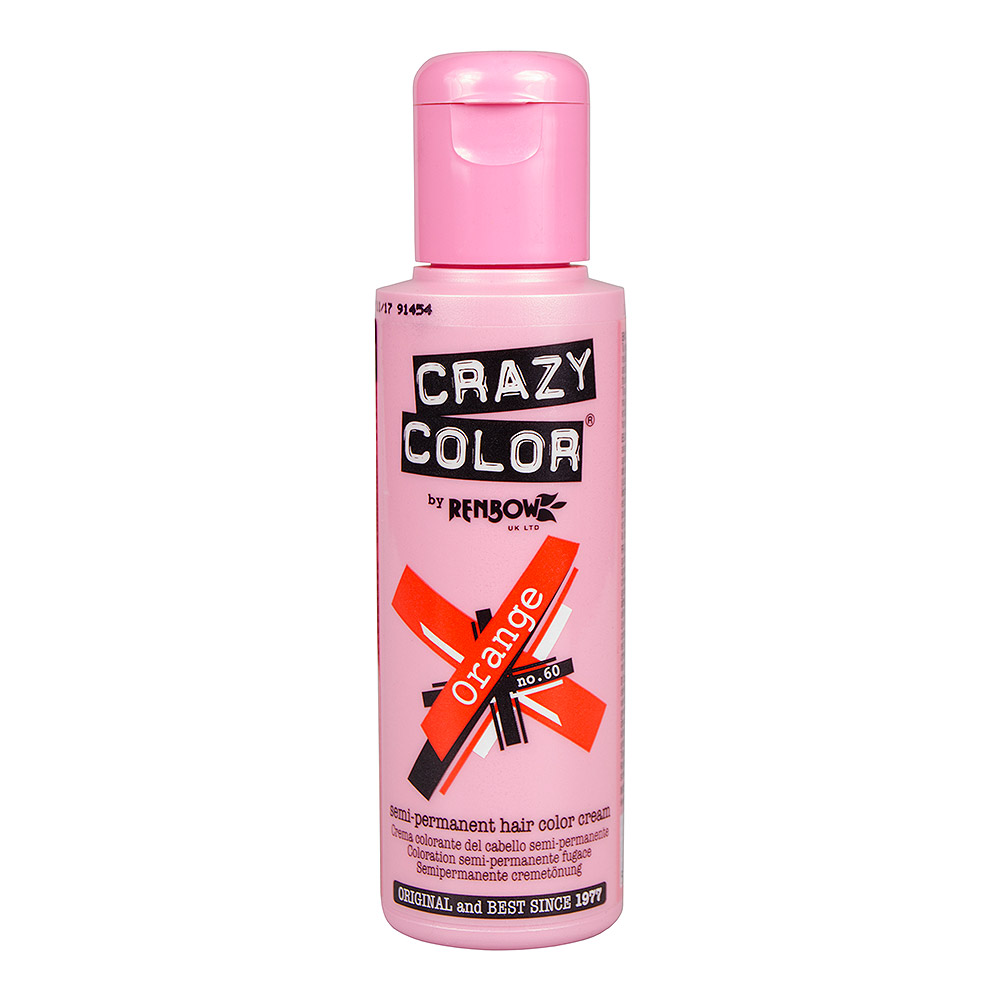 Crazy Color Semi-Permanent Hair Dye 100ml (Orange)