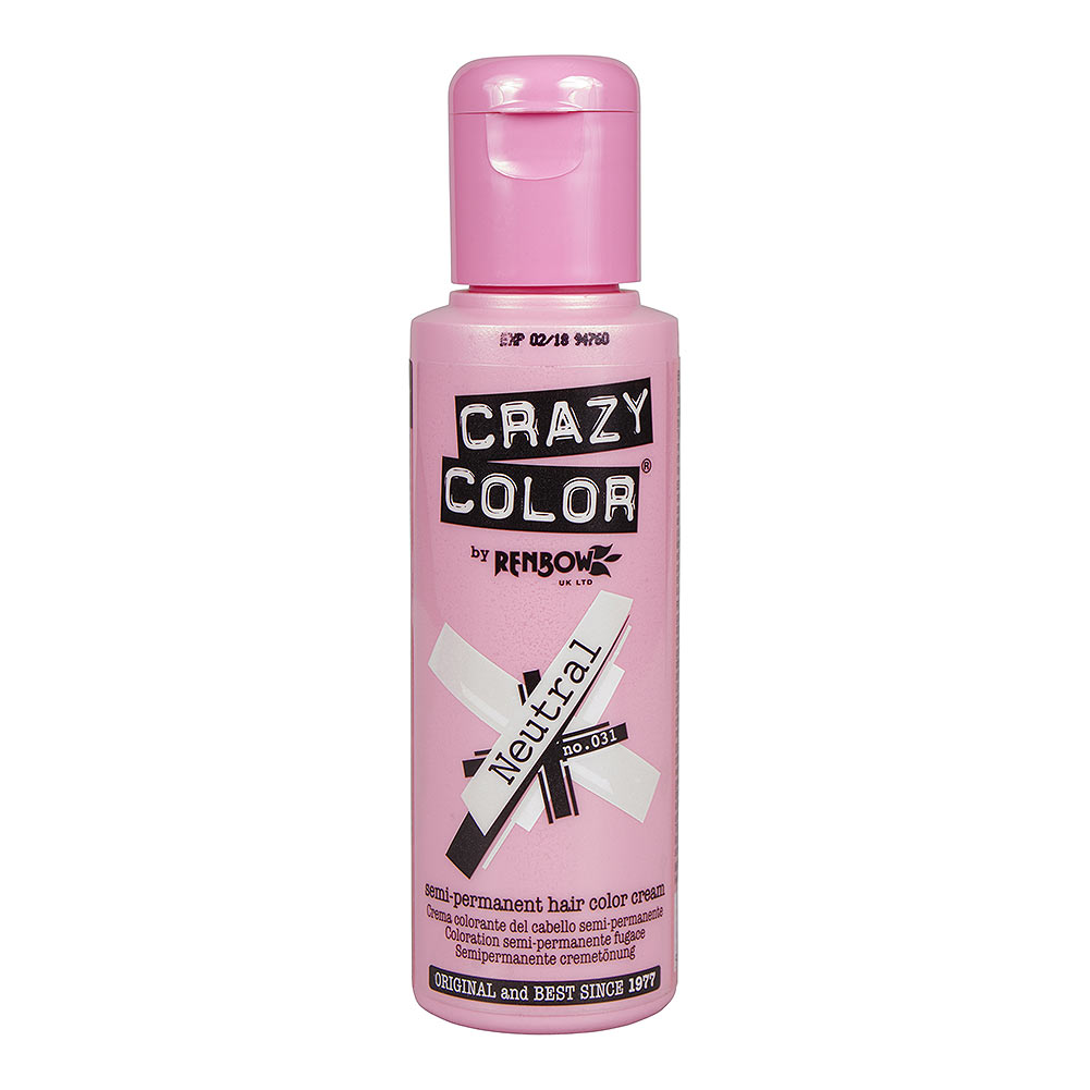 Crazy Color Semi-Permanent Hair Dye 100ml (Neutral)