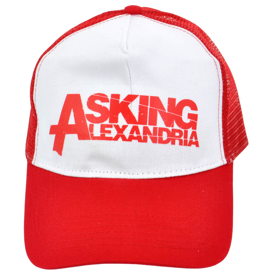 Official Asking Alexandria Trucker Hat (Red/White)