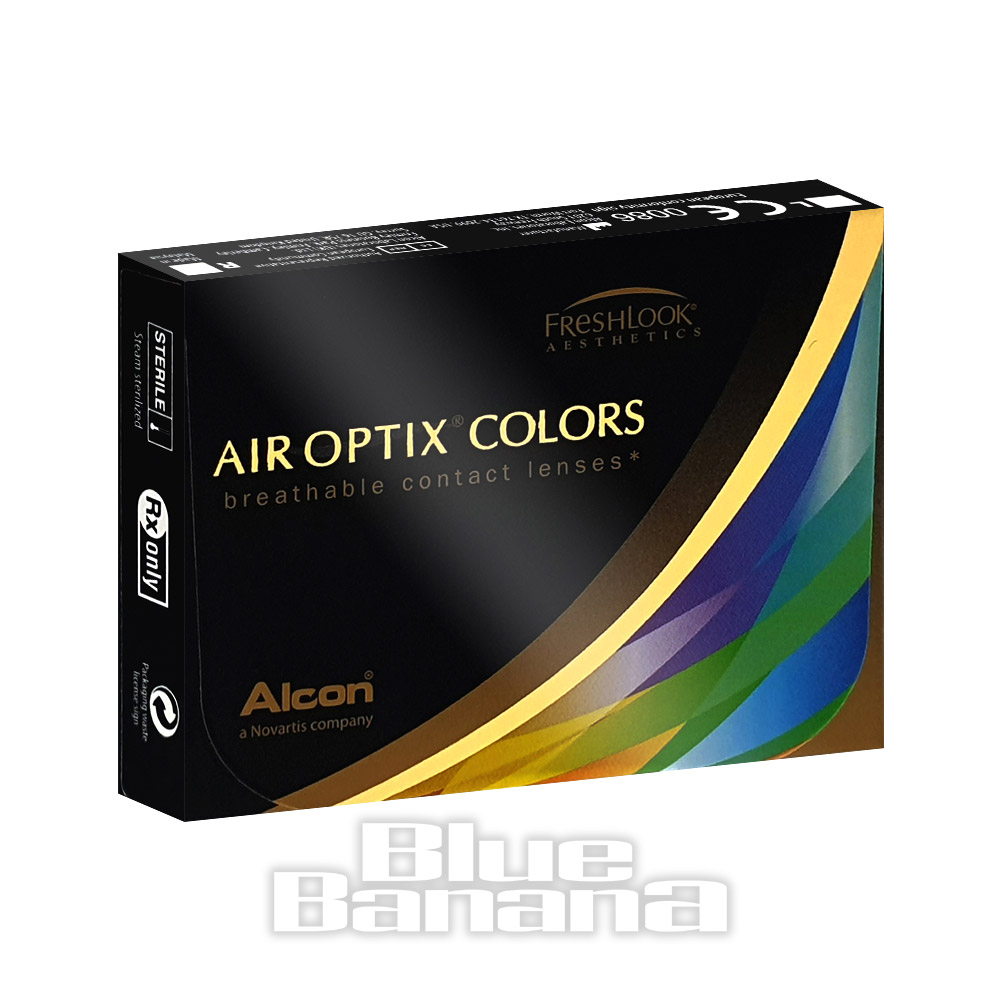 Air Optix Prescription 30 Day Coloured Contact Lenses (True Sapphire)