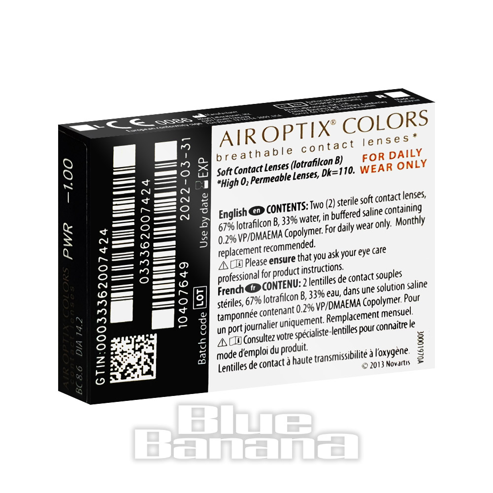 Air Optix 30 Day Coloured Contact Lenses (Brilliant Blue)