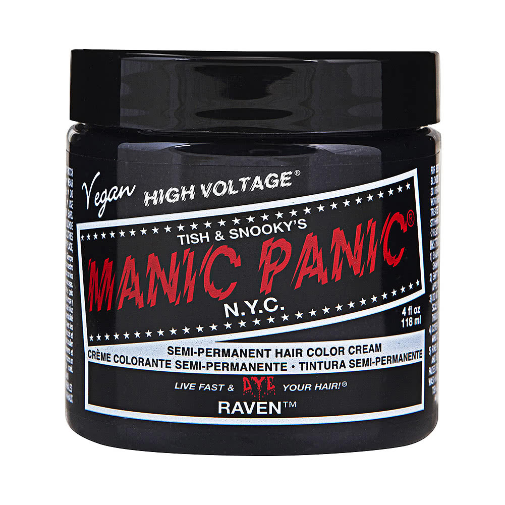 Manic Panic High Voltage Classic Cream Formula Colour Hair Dye 118ml (Raven)