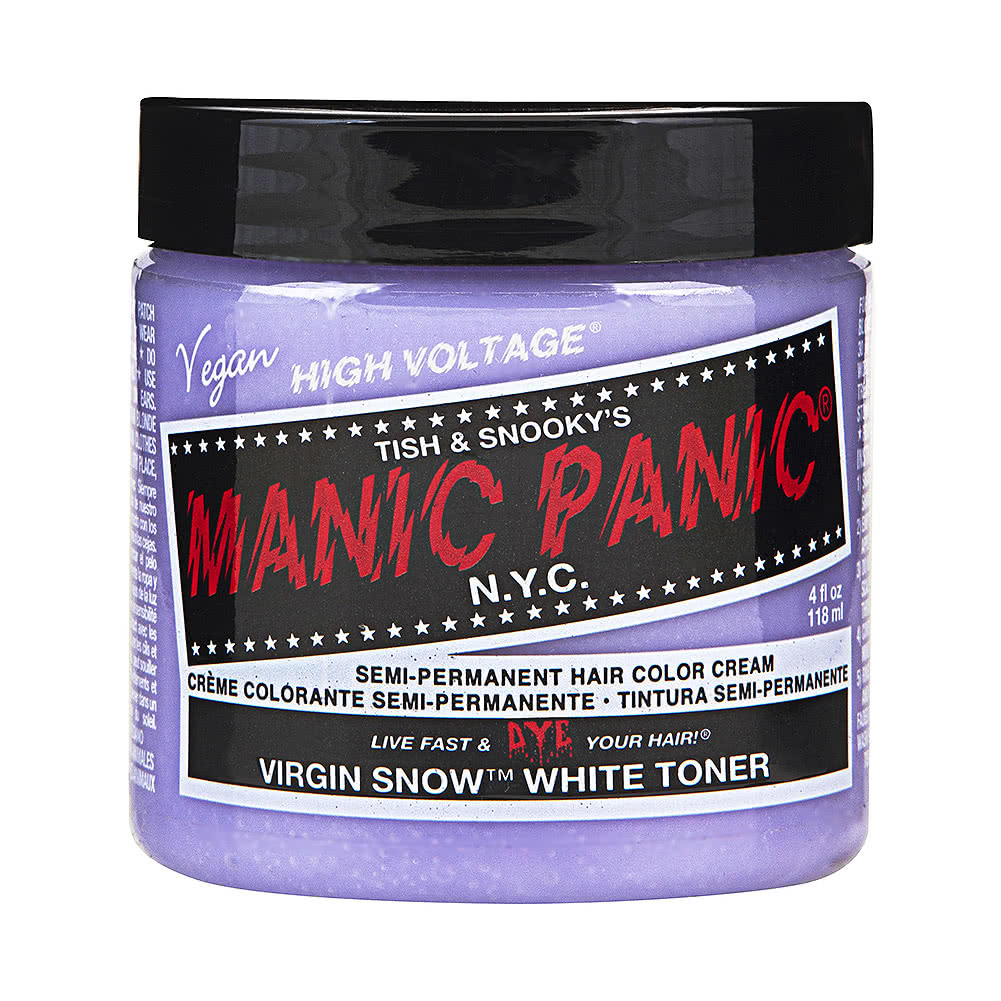 Manic Panic High Voltage Classic Cream Formula Colour Hair Dye 118ml (Virgin Snow Toner)