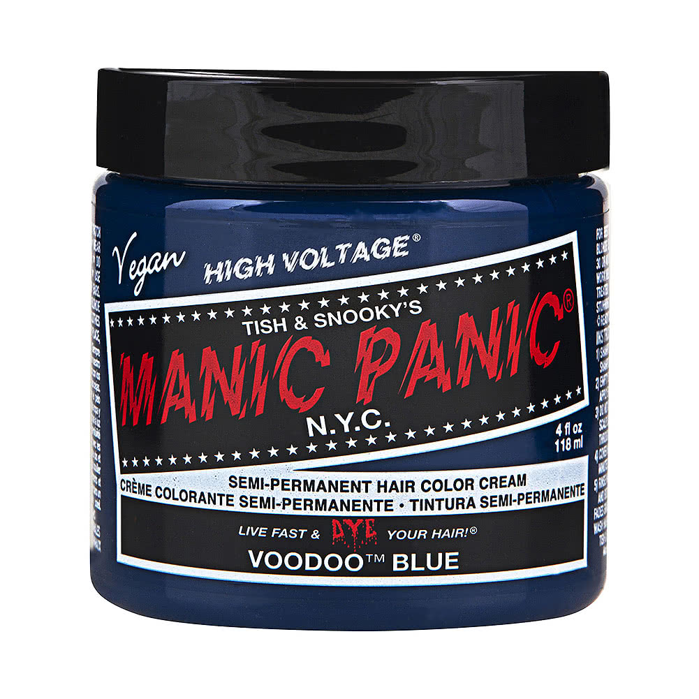 Manic Panic High Voltage Classic Cream Formula Colour Hair Dye 118ml (Voodoo Blue)