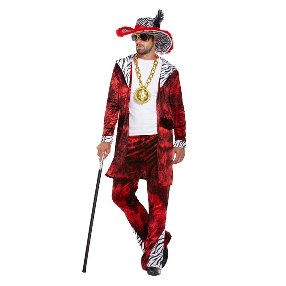 Blue Banana Big Daddy Fancy Dress Costume (Red)  sc 1 st  Blue Banana & Big Daddy Fancy Dress Costume 1970u0027s Pimp Dressing Up Outfit UK