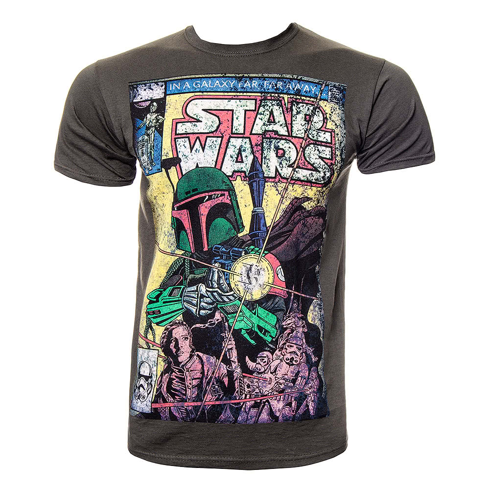 star wars bob blast t shirt boba fett tee star wars. Black Bedroom Furniture Sets. Home Design Ideas