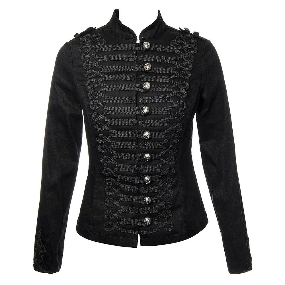 Ladies H&R Black MJ Military Tail Jacket, Steampunk Style Coat UK