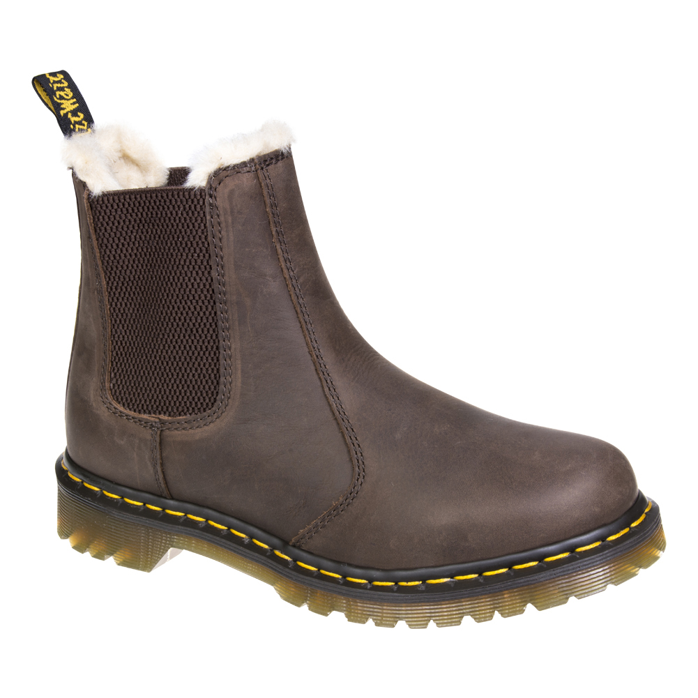 Dr Martens Brown Leonore Chelsea Boots, DM Footwear UK