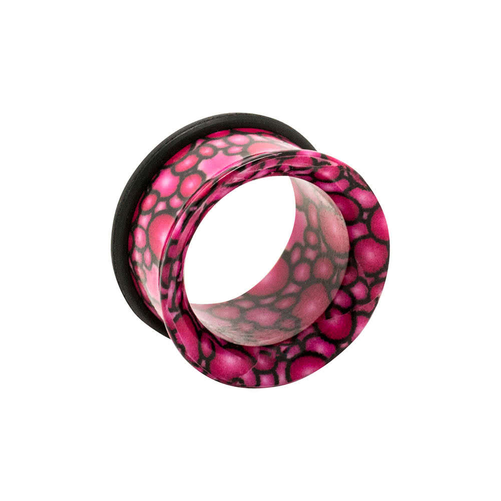 Blue Banana Acrylic Pebble Flared Ear Tunnel 8-20mm (Pink)
