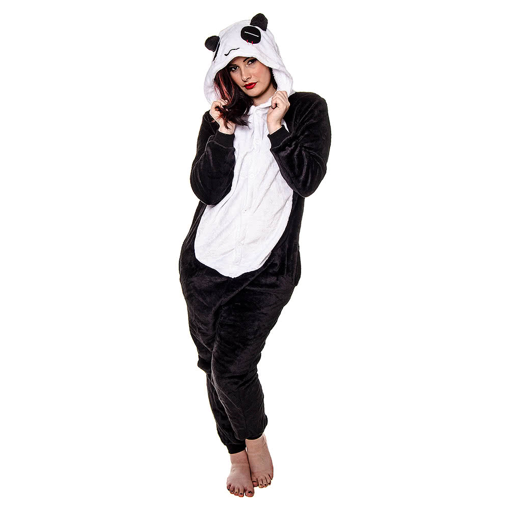 Blue Banana Panda Onesie (Black/White)