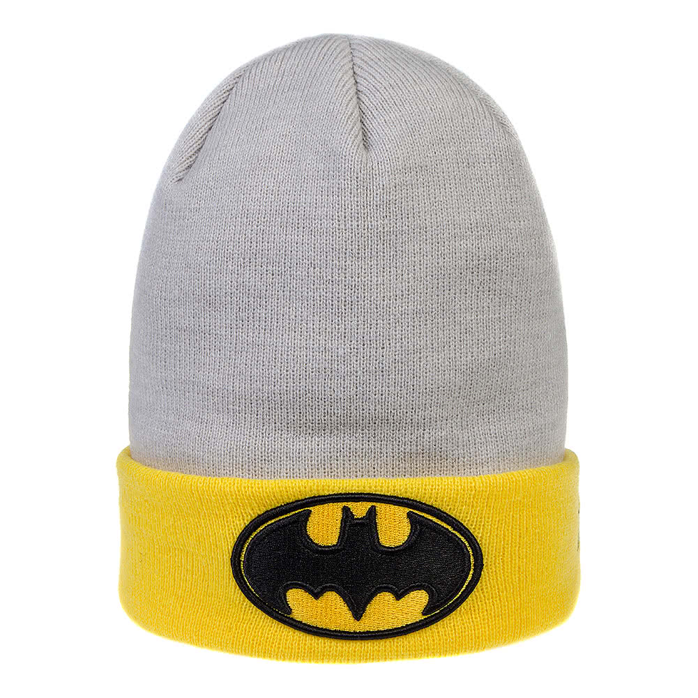 Batman Beanie Hat (Grey/Yellow)