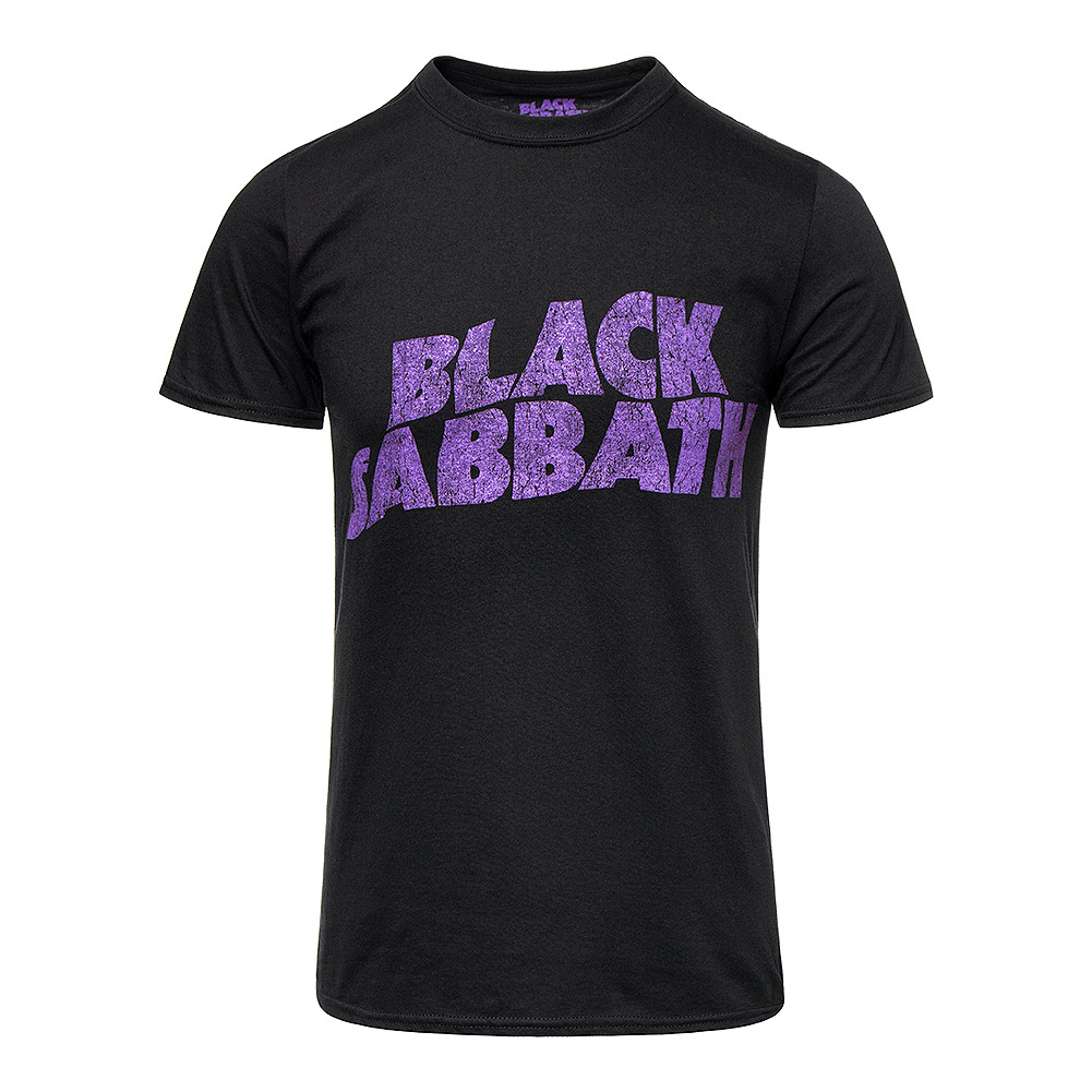 Official Black Sabbath Wavy Logo T Shirt (Black/Purple)