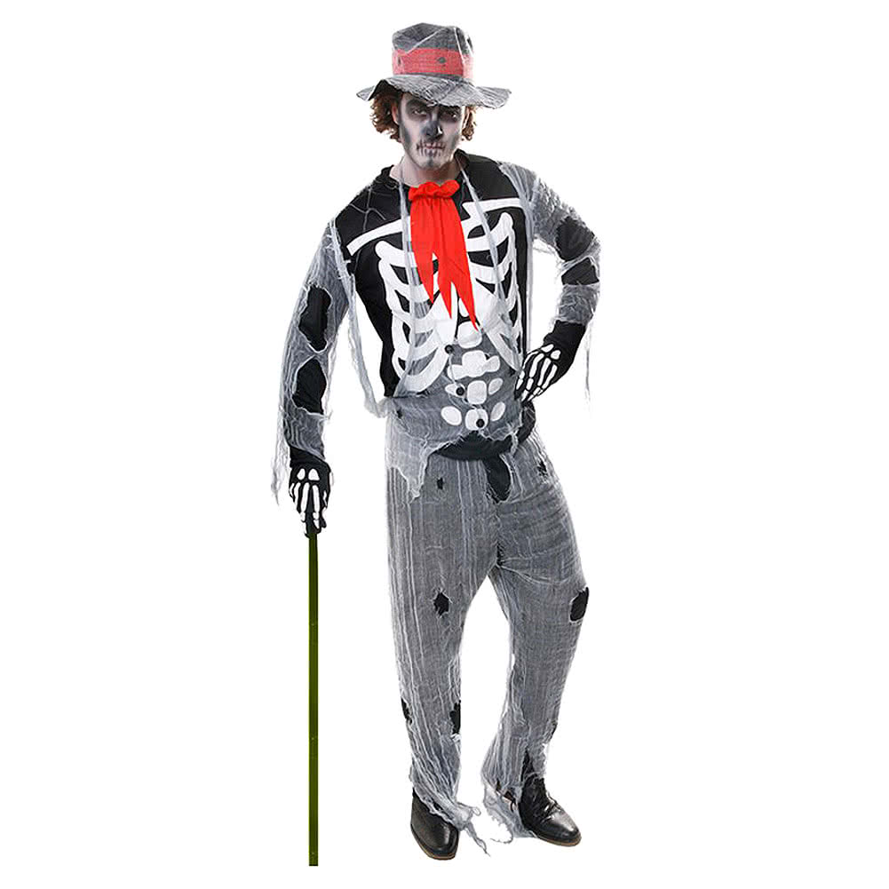 Blue Banana Voodoo Man Fancy Dress Costume (Grey)