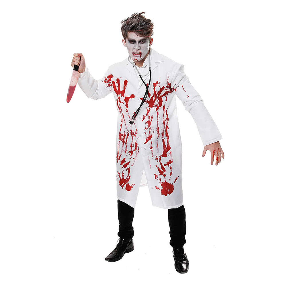 Childrens Unisex White Doctors Coat Fancy Dress Up Party Costume ...