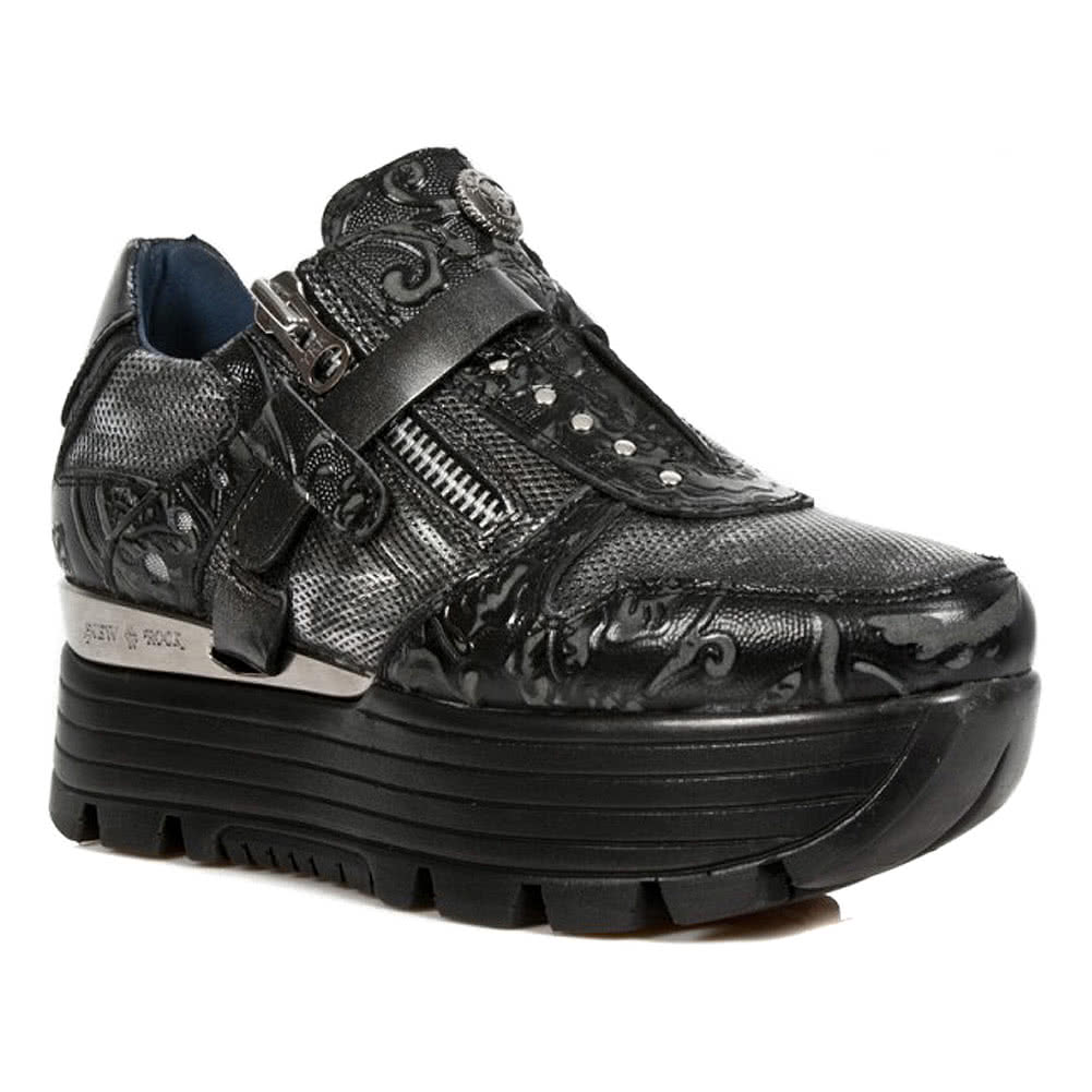 551c701aa24 New Rock M.URBAN018-S3 Urban Vintage Black Shoes