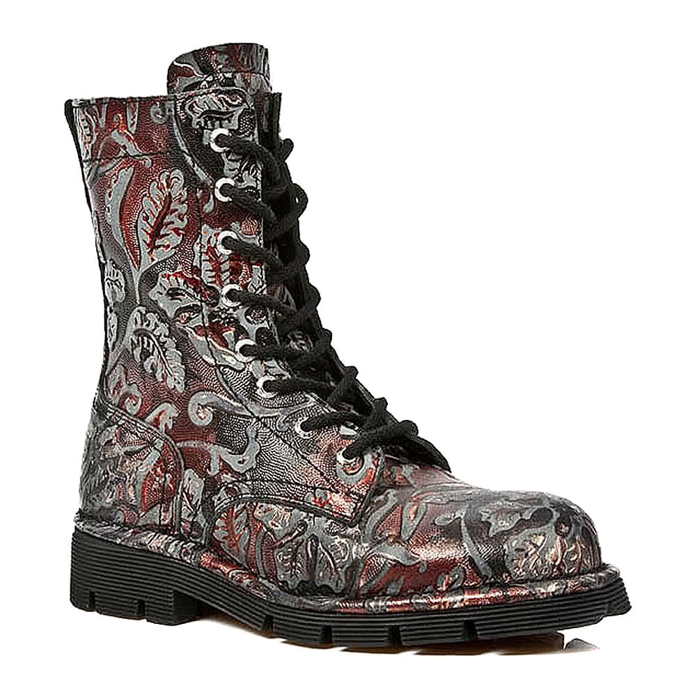 New Rock M.1423-S21 Flower Boots (Red)