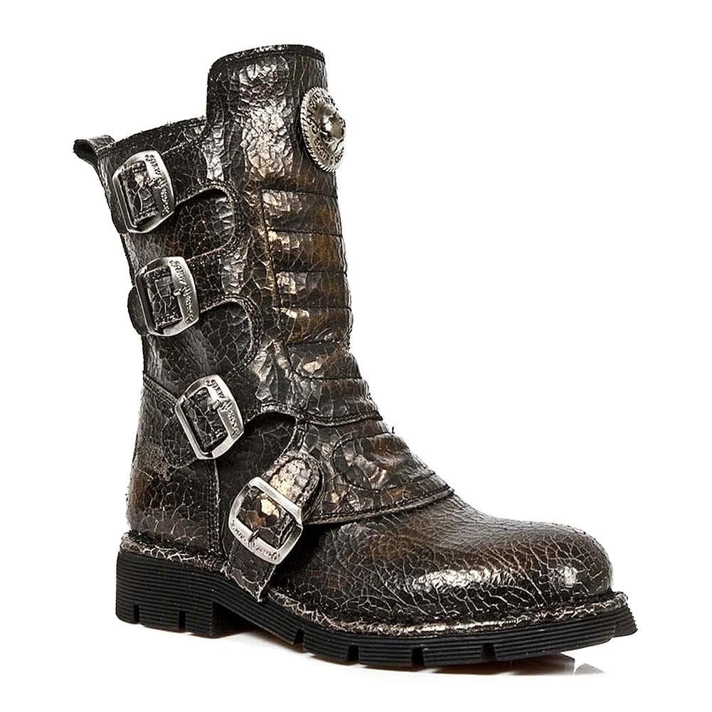 New Rock M.1471-S22 Comfort Light Half Boots (Brown)