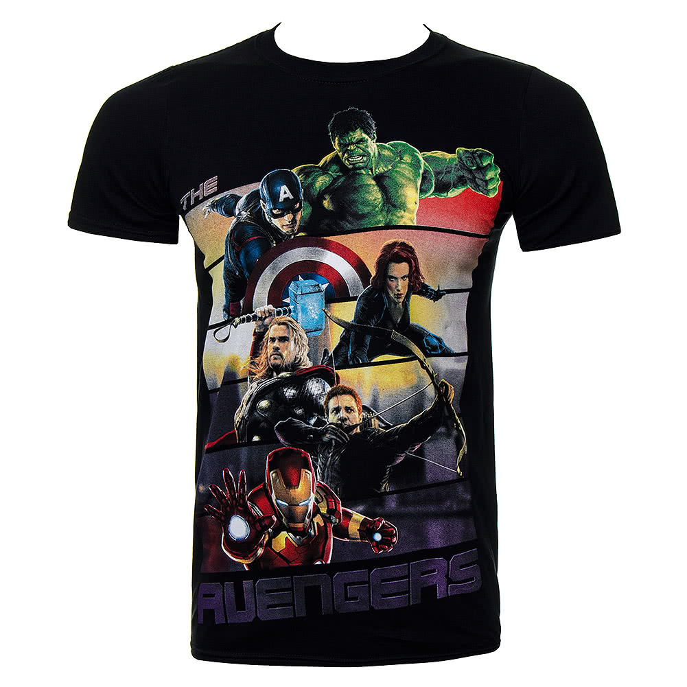 marvel avengers bars t shirt superhero tee marvel comics. Black Bedroom Furniture Sets. Home Design Ideas