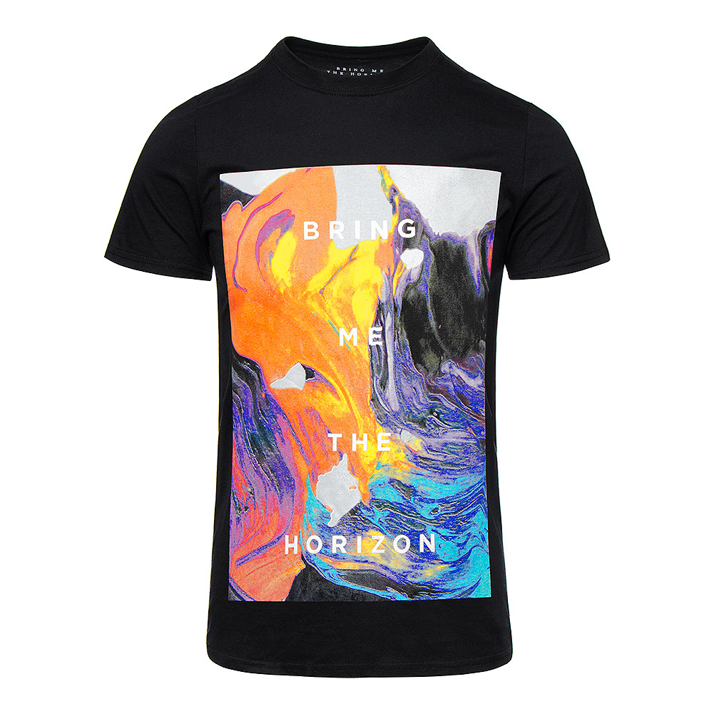 Bring Me The Horizon Painted T Shirt (Schwarz)