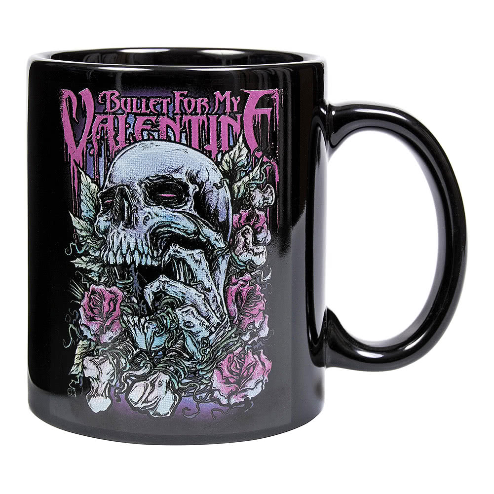 Official Bullet For My Valentine Red Eyes Skull Mug (Black)
