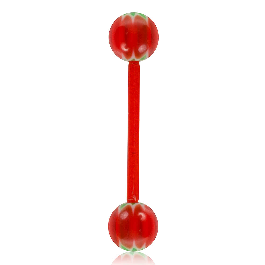 Blue Banana Acrylic 1.6mm UV Bendy Bar (Red/Green)