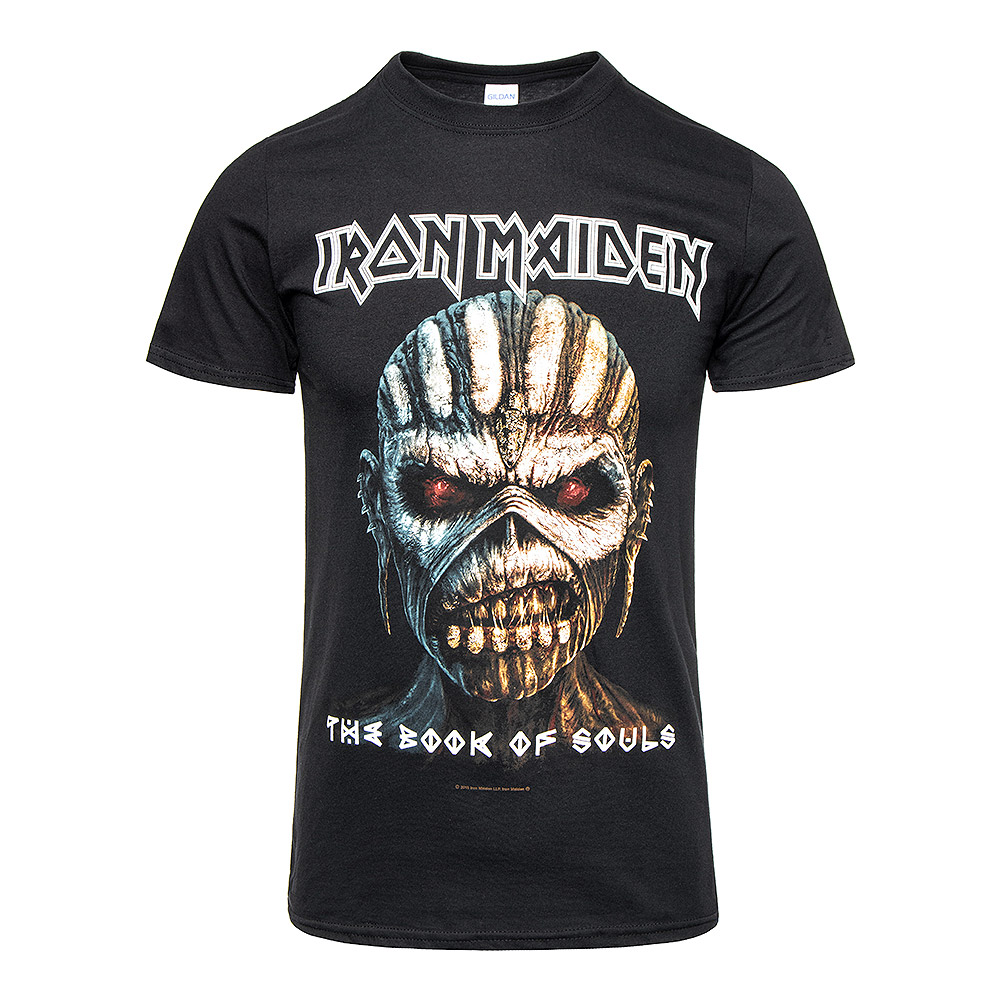 Official Iron Maiden Book Of Souls T Shirt (Black)