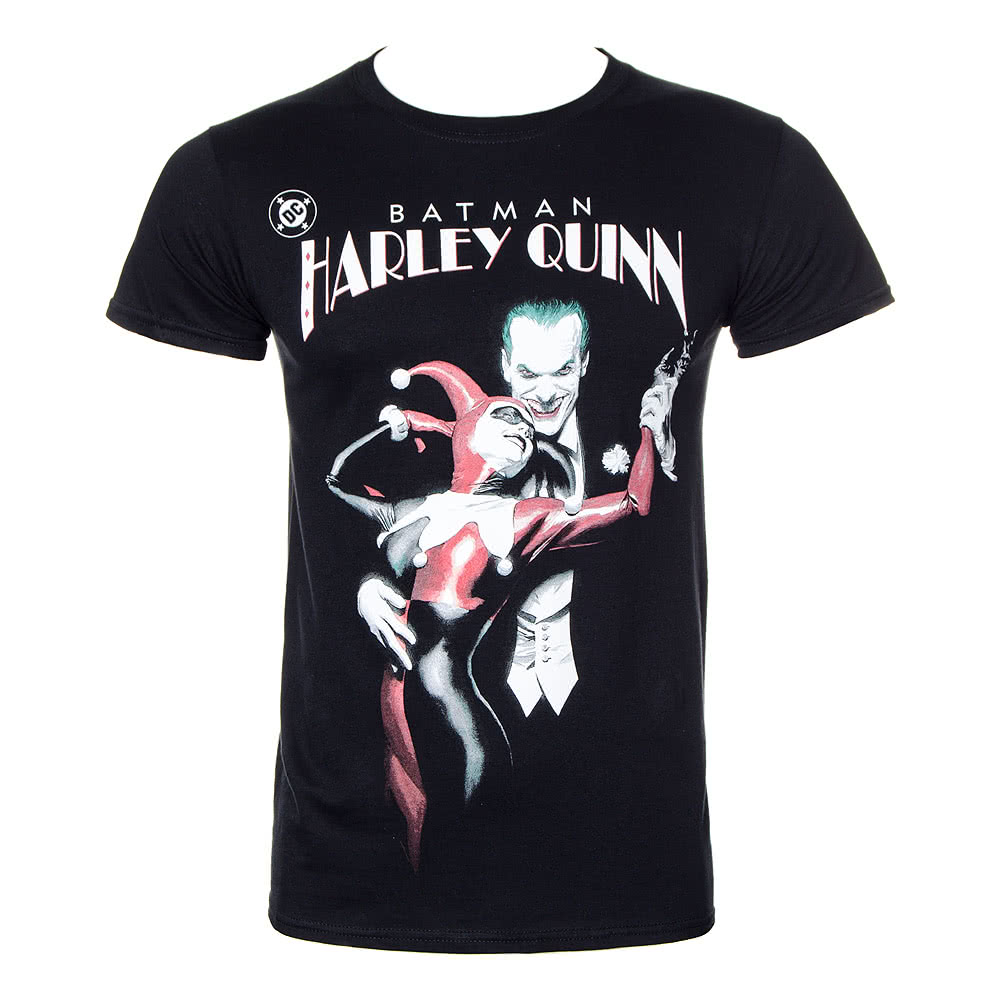 DC Comics Harley Quinn & Joker T Shirt (Black)