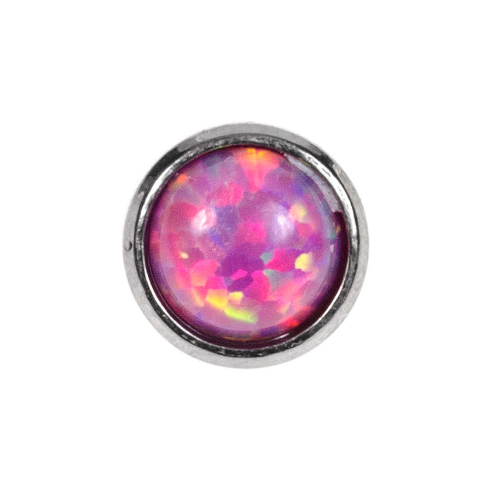 Blue Banana Surgical Steel 5mm Dermal Top (Opal)