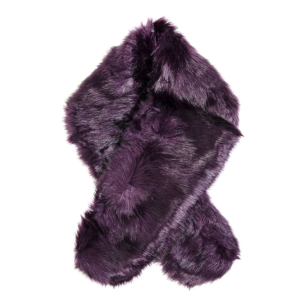 Blue Banana Faux Fur Stole (Purple)