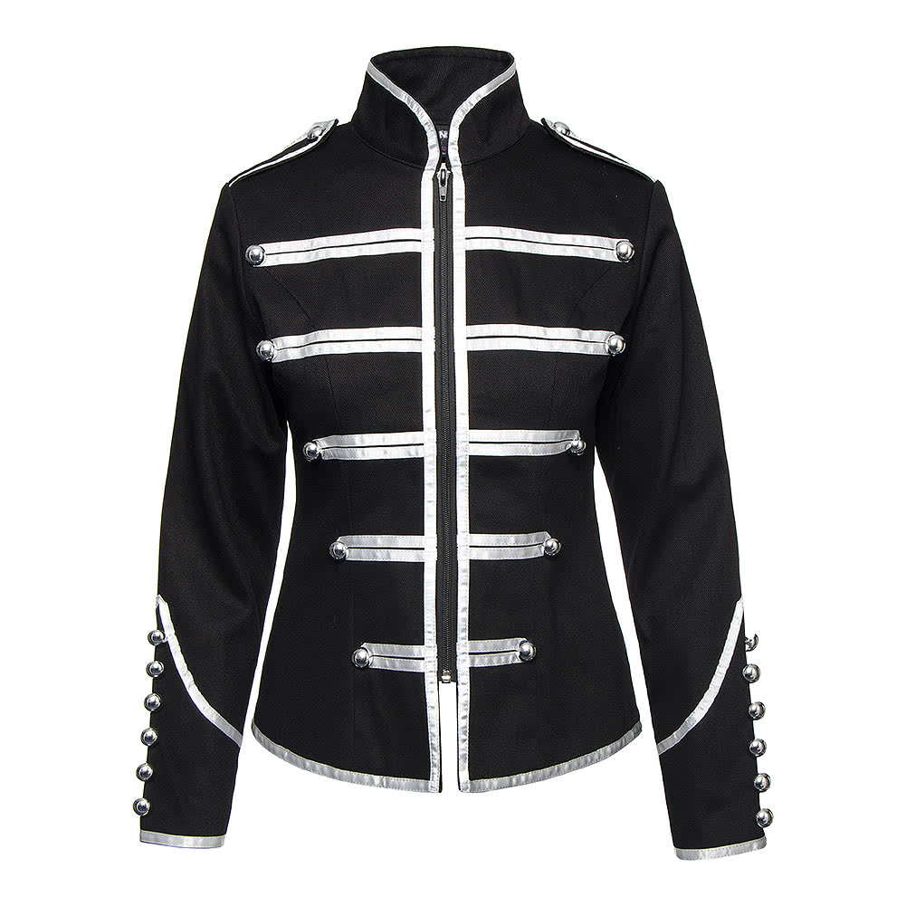 Banned Drummer Jacket (Black/Silver)