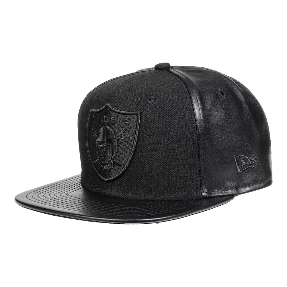 New Era Oakland Raiders PU Panel 9Fifty Snapback Hat (Black)
