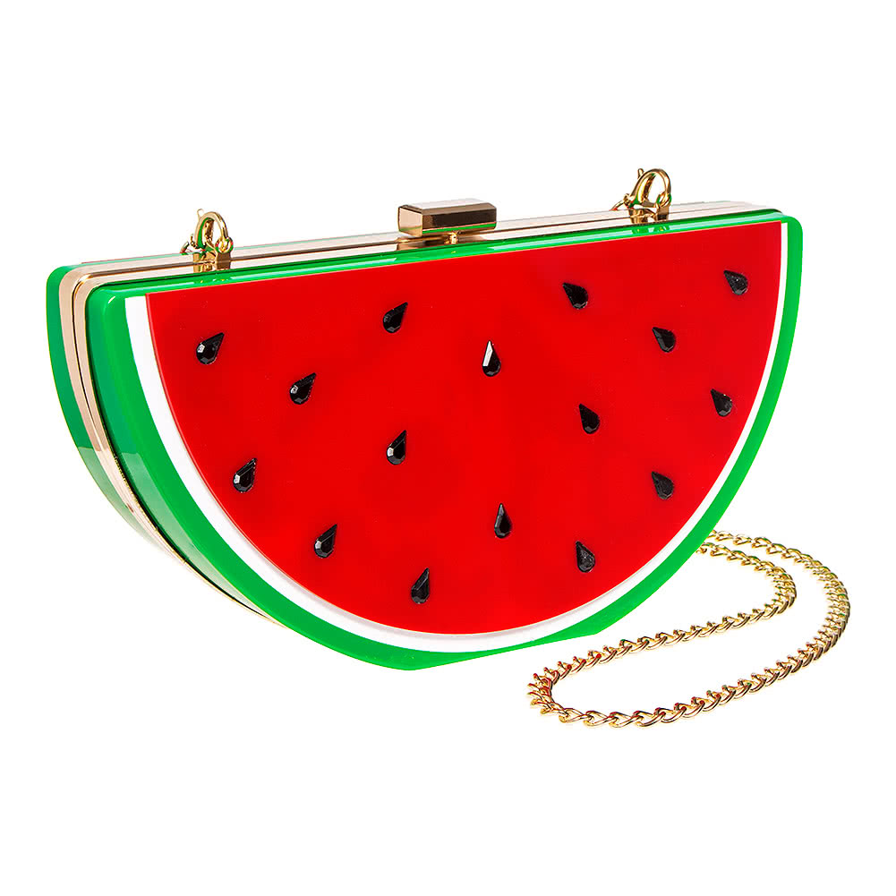 Blue Banana Watermelon Box Clutch Bag (Multicoloured)