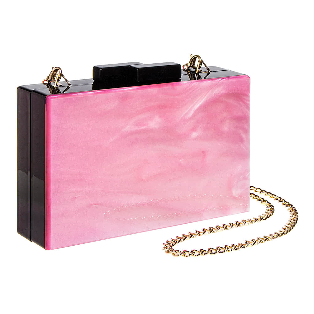 Borsetta Clutch Bag Box Swirl Blue Banana (Rosa/Nero)