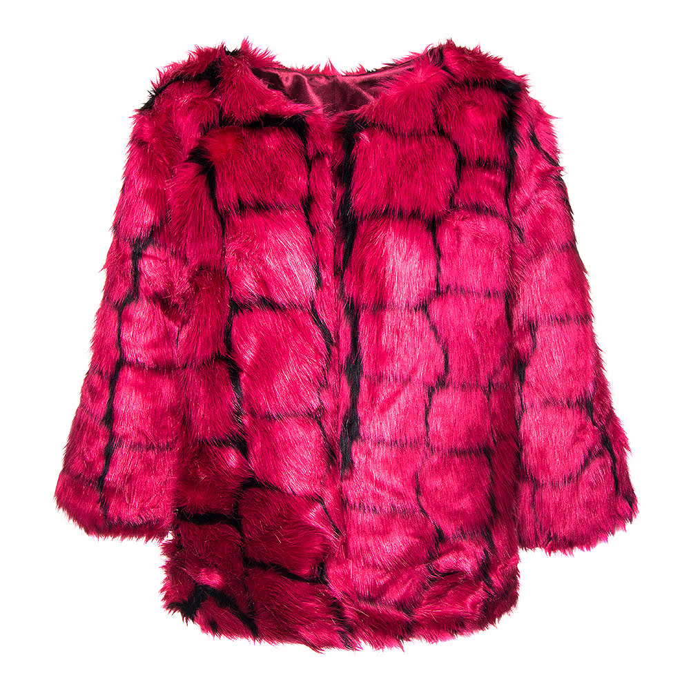 Bleeding Heart Faux Fur Jacket (Pink Mix)