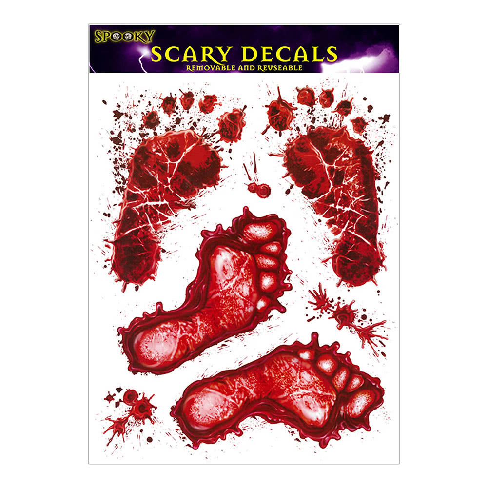 Blue Banana Bloodied Feet Stickers