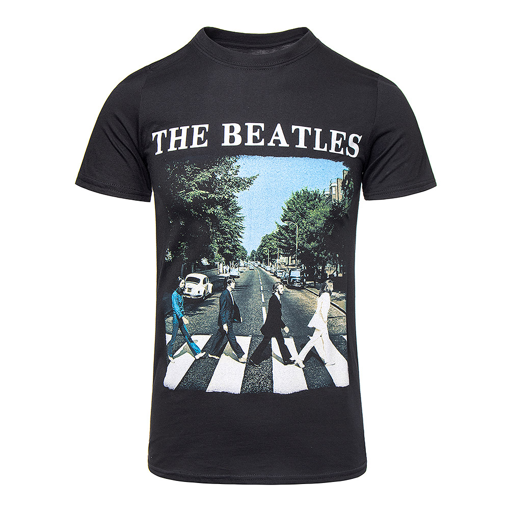 Official The Beatles Abbey Road Black T Shirt