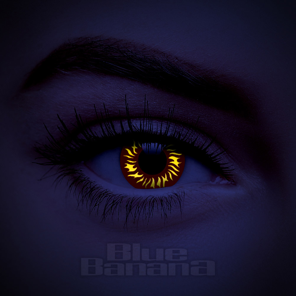 238c80e8a7 UV i-Glow Wolf 90 Day Red Contact Lenses