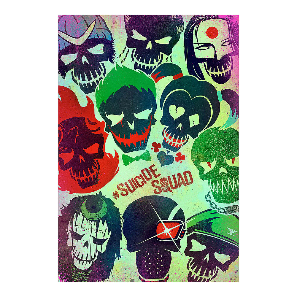 DC Comics Suicide Squad Faces Poster (Multicoloured)