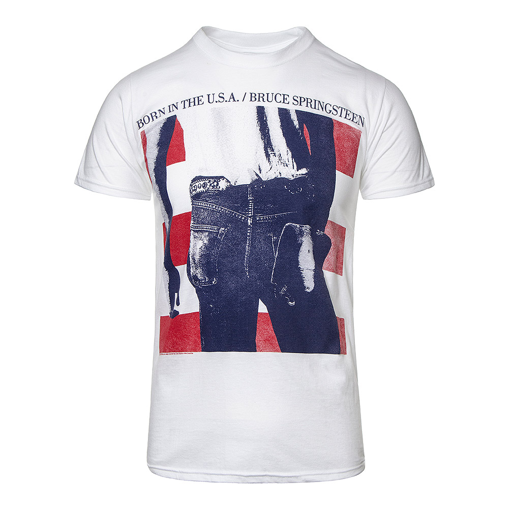 Official Bruce Springsteen Born In The USA T Shirt (White)