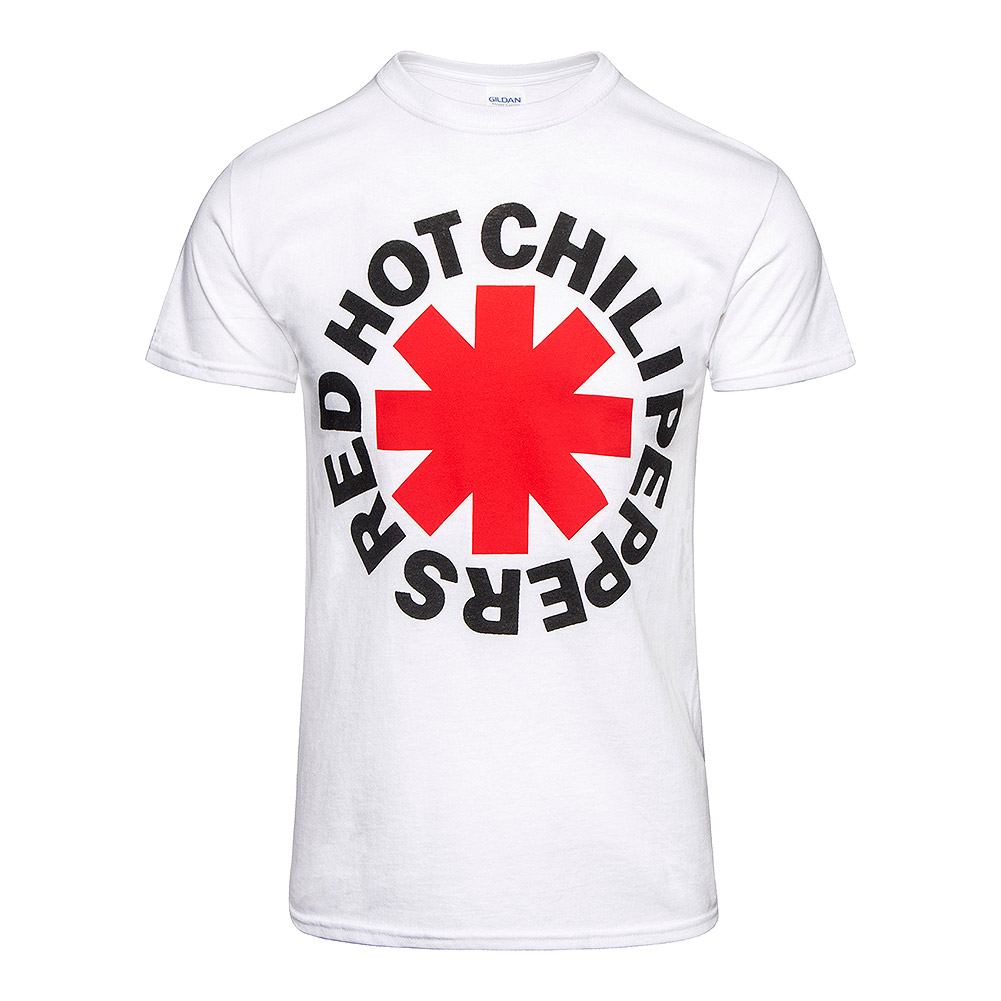 Official Red Hot Chili Peppers Asterisk T Shirt (White)