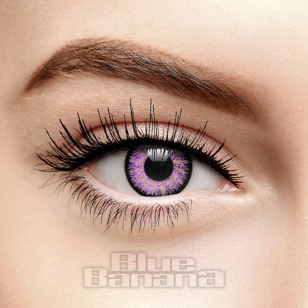 Glamour Eyes 1 Day Coloured Contact Lenses (Violet)