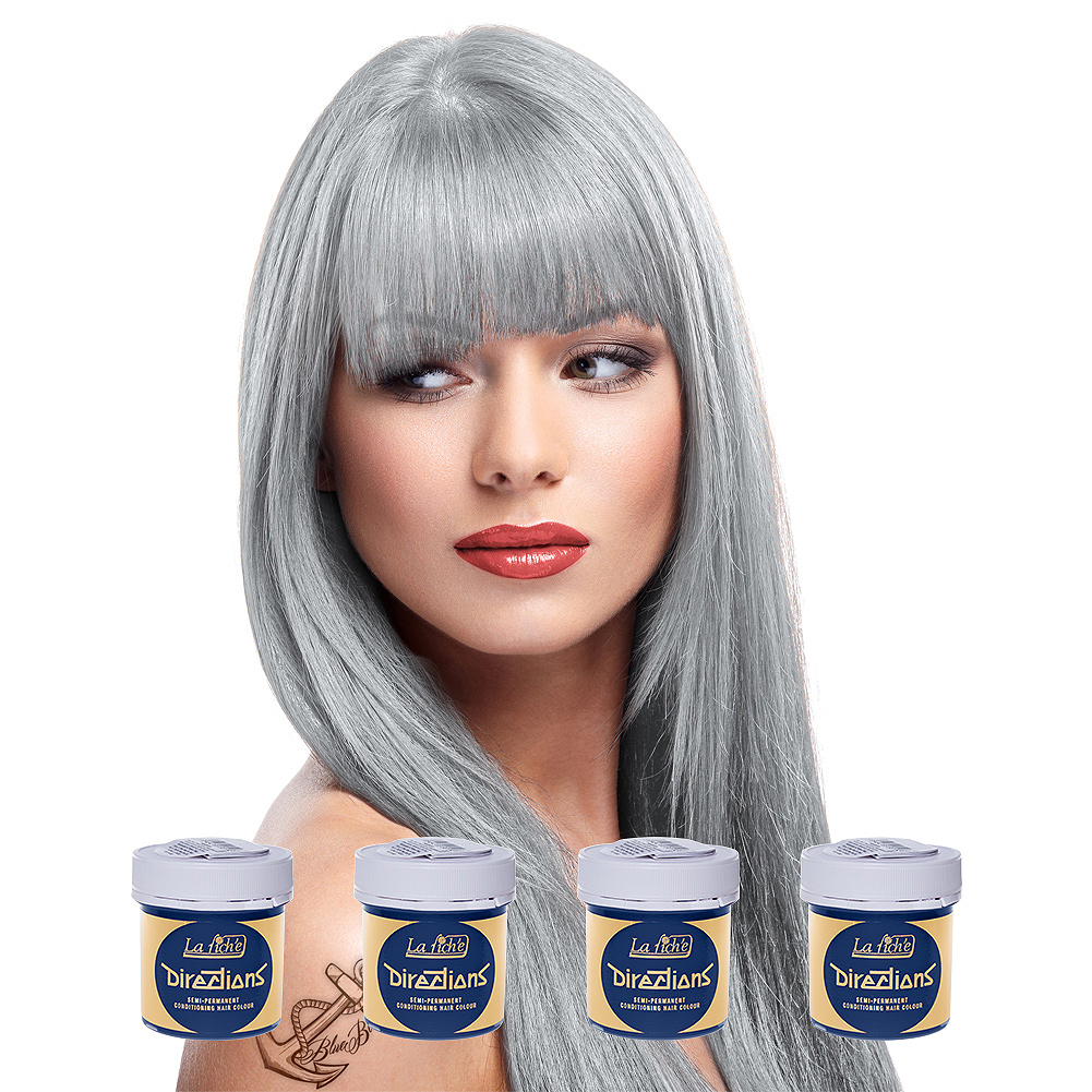 La Riche Directions Colour Hair Dye 4 Pack 88ml (Silver)